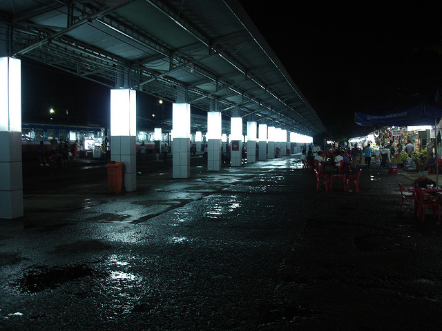 Saigion Train Station At Night